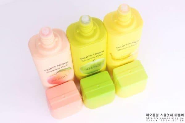 Готовые маски для лица с фруктами