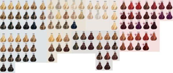 Палитра краски для волос Колестон