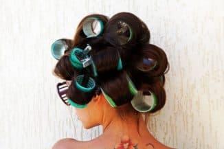 Крупные бигуди-липучки для длинных волос