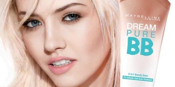 Эффект от применения бб крема Мейбелин