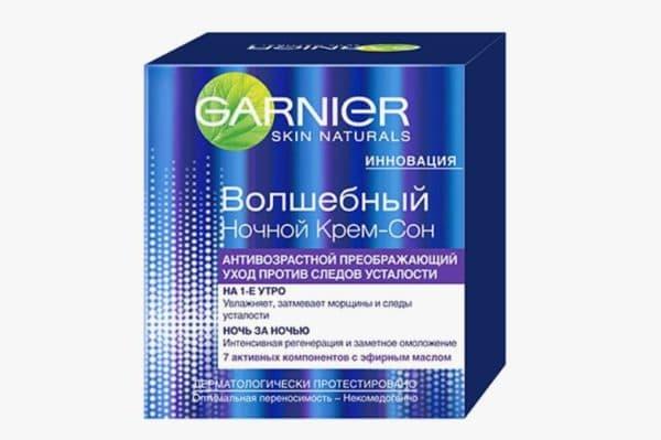 Ночной антивозрастной крем для лица Гарньер
