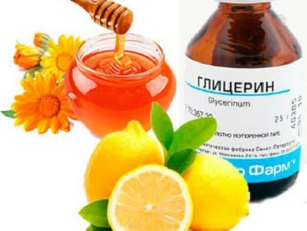 Маска для лица мёд глицерин