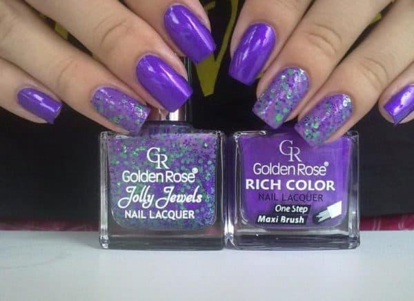 Фиолетовые лаки для ногтей от Голден Роуз