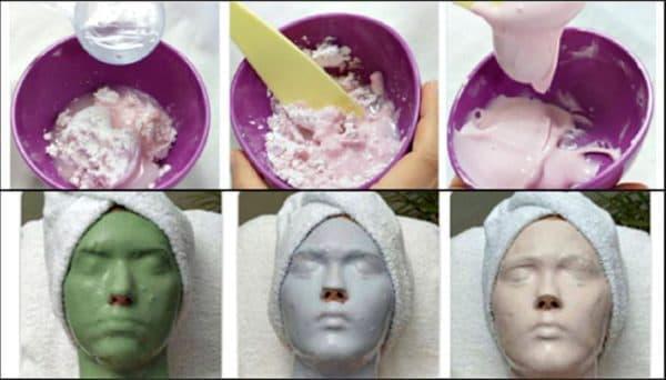 Процесс разведения сухой альгинатной маски