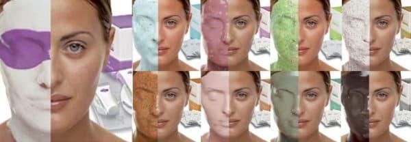 Альгинатные маски для лица с различными добавками