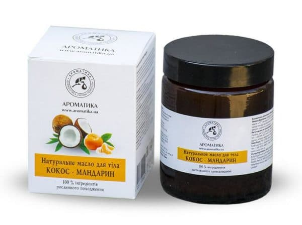 Косметическое масло кокос и мандарин