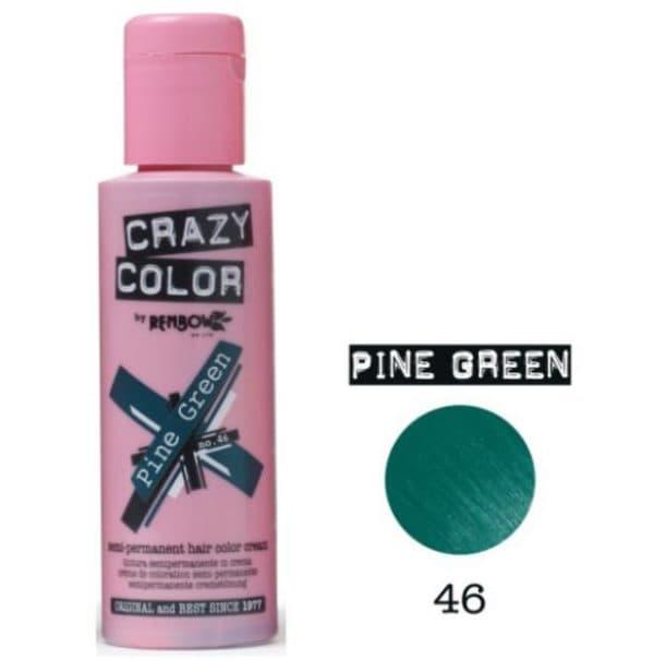 Зеленая краска для волос Crazy color