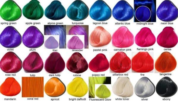 Яркая палитра красок для волос Directions la Riche