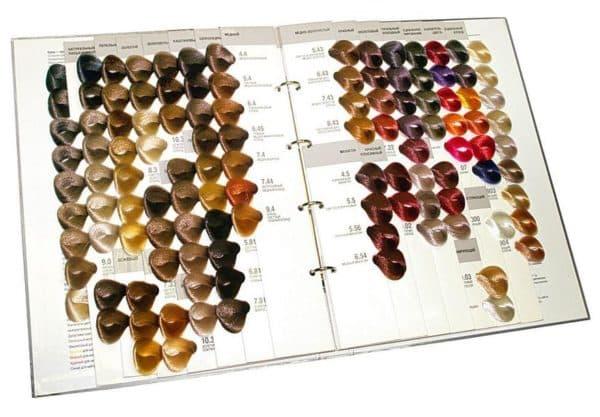 Палитра краски для волос Kapous professional