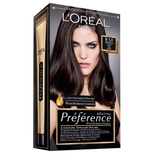 Стойкая краска для волос L'Oreal recital preference