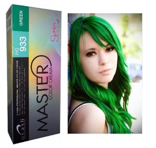 Зеленая краска для волос Dcash