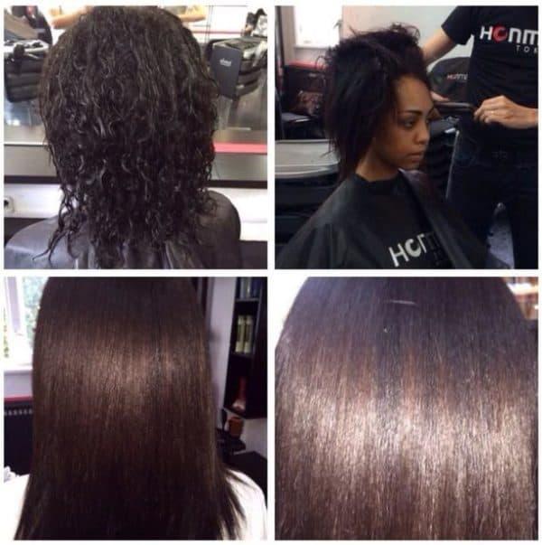 Результат кератинового выпрямления волос