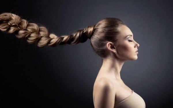 Красивые волосы после смывки