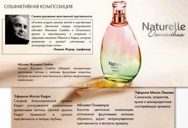 Композиция аромата Османтус Ив Роше
