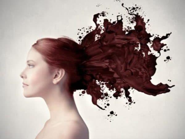 Тонирование волос кофе