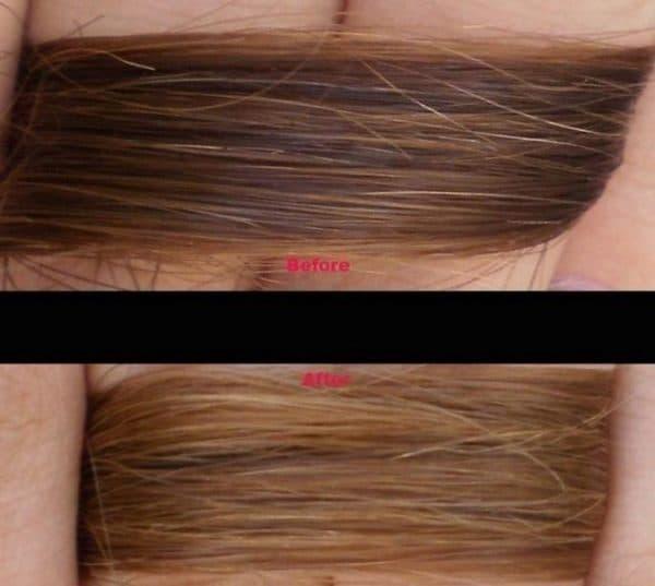 Эффект после самых щадящих средств для смывки краски с волос