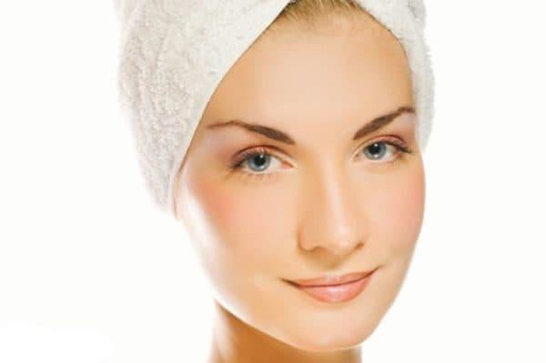 Результат от применения желатиновой маски на лице