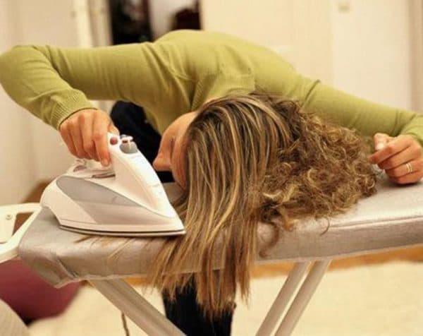 Выпрямление волос утюгом