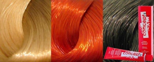 Лучшие оттенки краски для волос Концепт