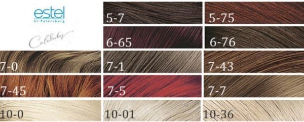 Палитра краски для волос Estel Celebrity