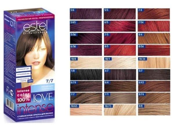 Love Intense Estel краска для волос палитра
