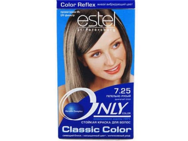 Пепельно русый холодный оттенок в краске для волос Эстель
