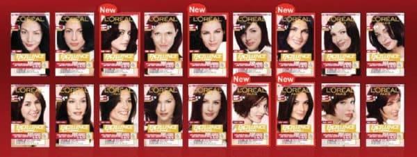 Палитра краски для волос Excellence Creme