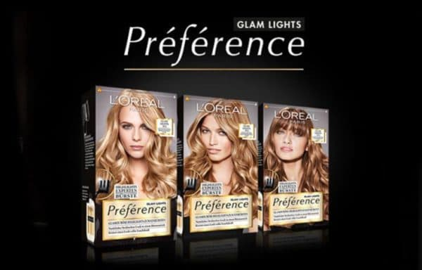 Линия Glam Lights краски для волос Лореаль Преферанс