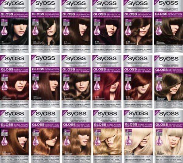 Палитра краски для волос Syoss Gloss Sensation