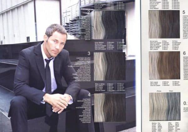 Палитра мужской краски для волос Lisap