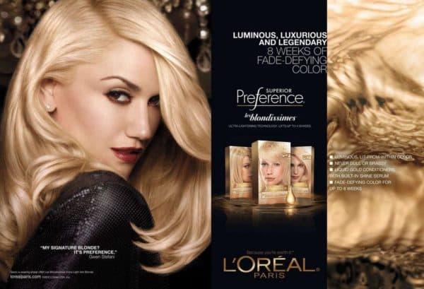 Оттенки блонд в палитре краски для волос Лореаль Superior Preference