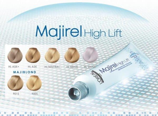 Палитра краски для волос Majirel High Lift