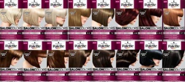 Стойкая краска для волос Палет Salon Colors
