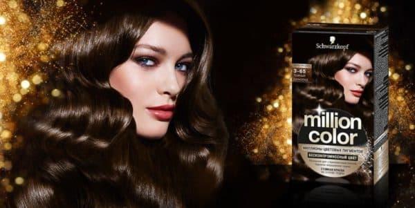 Коричневый оттенок краски для волос Schwarzkopf Million Color