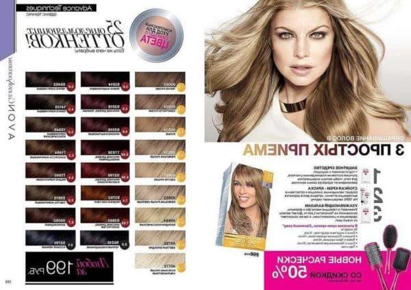 Avon палитра краски для волос