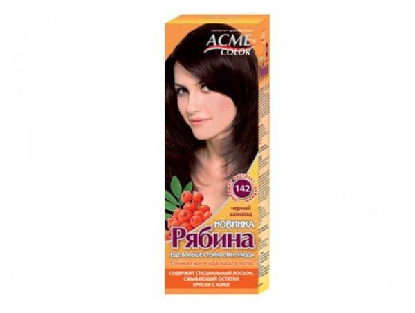 Оттенок чёрный шоколад в краске для волос Рябина