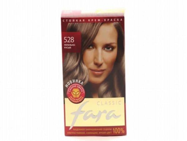 Пепельно русый оттенок краски для волос Fara