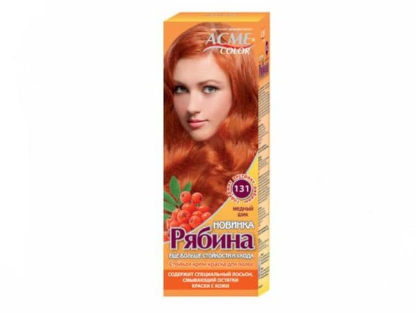 Оттенок краски для волос медный
