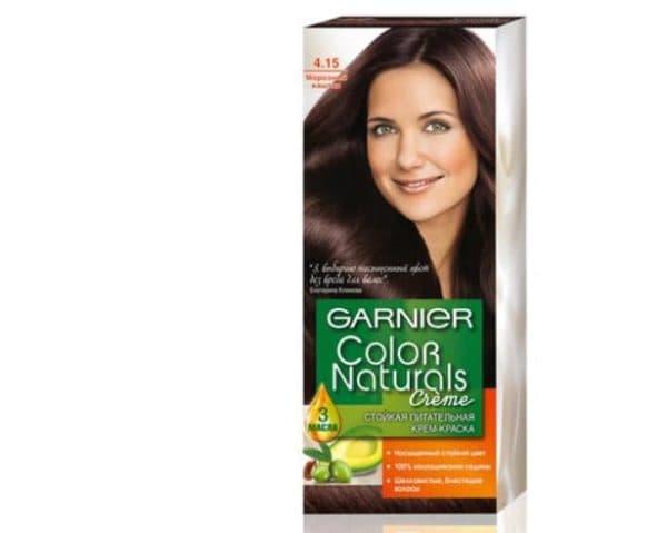 Холодный оттенок краски для седых волос Гарньер