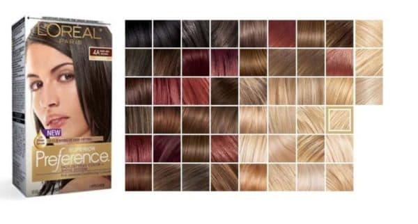 Краска для волос Preference палитра