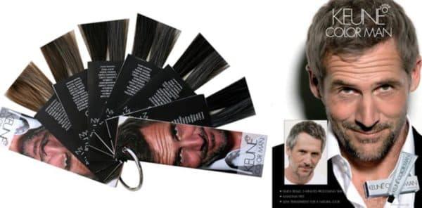 Палитра краски для мужских волос Keune Color Man