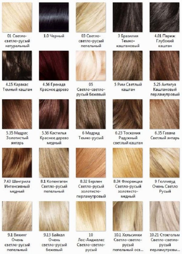 Краска для волос гарньер холодные оттенки