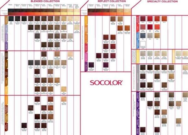 Палитра краски для волос Matrix Socolor