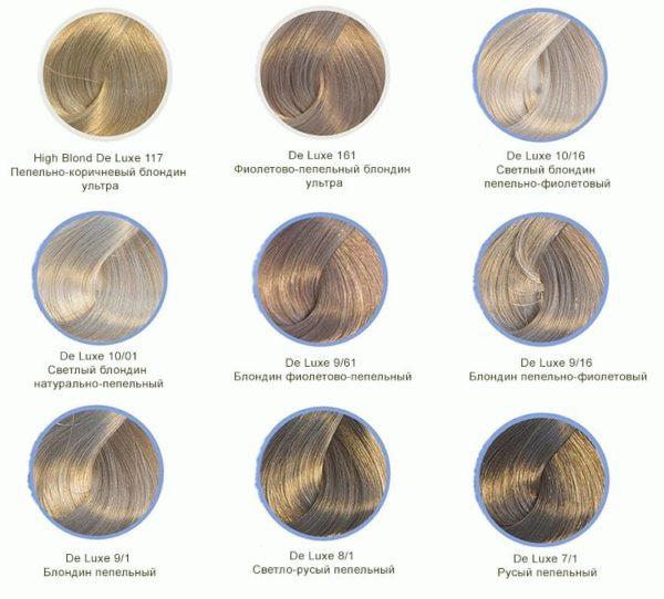 Пепельный русый оттенок краски для волос Эстель (Estel)