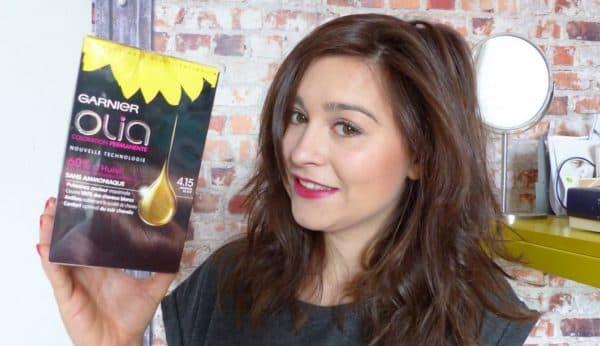 Результат окрашивания в оттенок темный шоколад краски для волос Гарньер