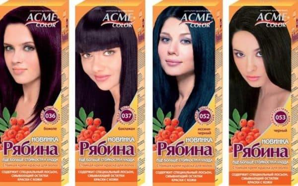Ухаживающие компоненты краски для волос Рябина