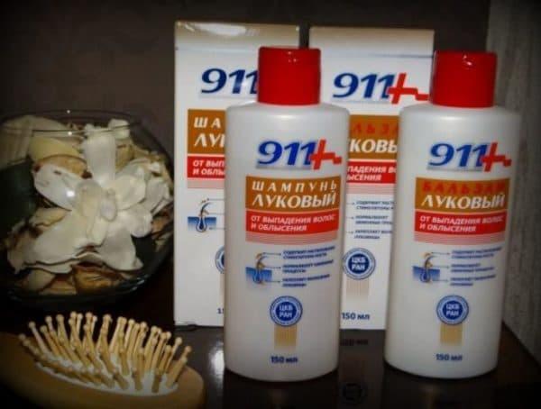 Шампунь и бальзам 911+ для волос с луковым соком