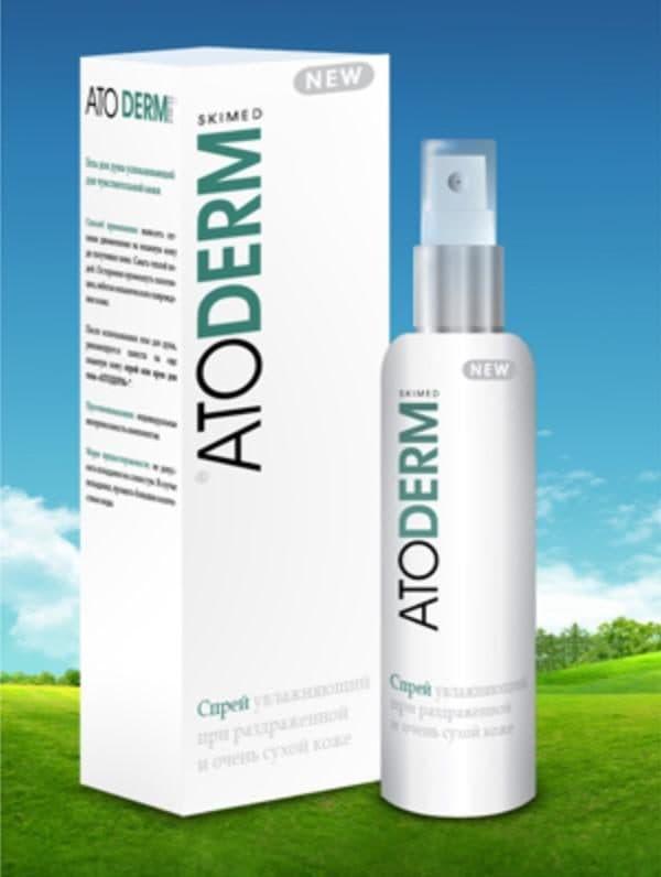 Негормональный спрей ATODERM от аллергии на лице
