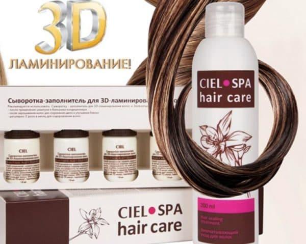 Сыворотка-заполнитель для 3D ламинирования волос от CIEL SPA