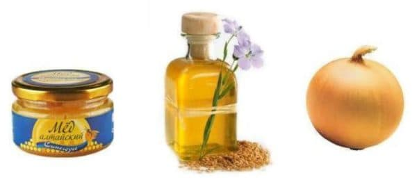 Маска для волос с льняным маслом, мёдом и луком